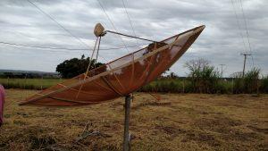 Antena de banda C: muitos usuários já não recebiam a TV analógica terrestre
