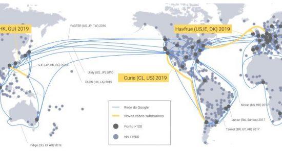 Google desenvolve cabo submarino internacional totalmente privado