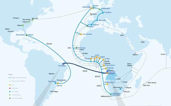 Angola Cables quer transformar rota para Luanda em hub